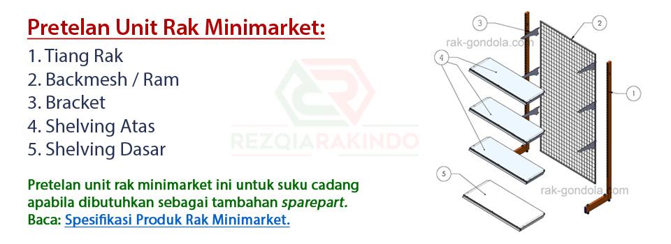 Jual Rak Gondola Minimarket Murah